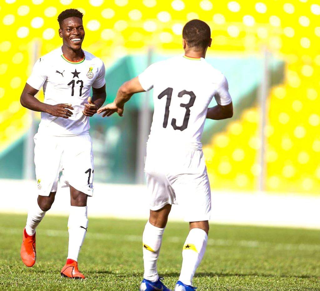 innovative design 89e33 1cbd4 Ghana forward Kwesi Appiah delighted to score against ...