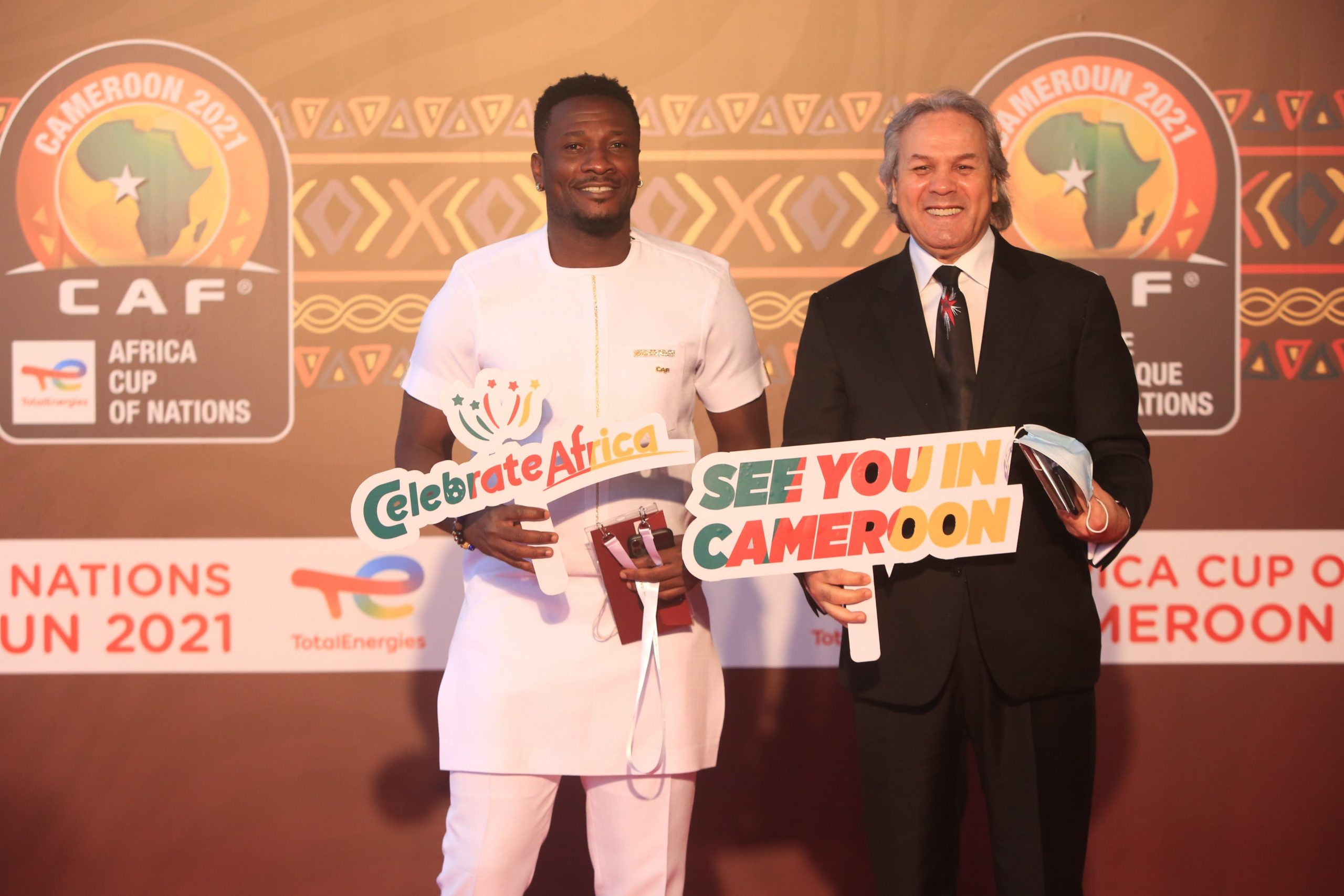 LIVE : Ghana's Asamoah Gyan part of African legends conducting 2021 AFCON  draw | #site_titleLIVE : Ghana's Asamoah Gyan part of African legends  conducting 2021 AFCON draw